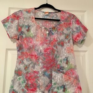 Scrub top by Barco size small